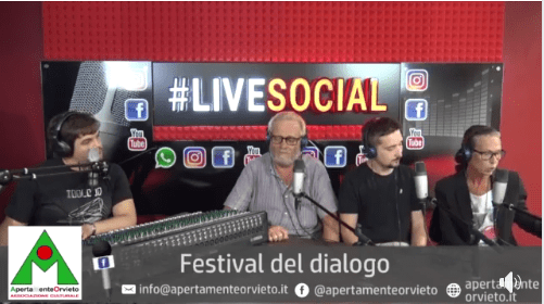 "ApertaMenteOrvieto on air, l'Associazione ospite al by Night Roma ""Live social radio show"""